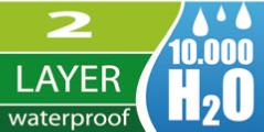 2層超軽量防水透湿素材