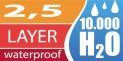 2.5層超軽量防水透湿素材
