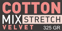 COTTON MIX STRETC VELVET 325GR